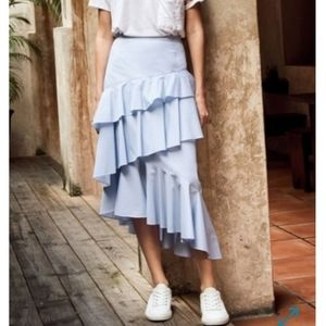 Chelsea 28 Light Blue Asymmetrical Skirt